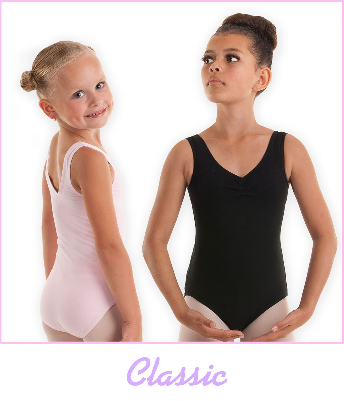 bewertungen classic balletttrikot mit raffung in schwarz oder rosa. Black Bedroom Furniture Sets. Home Design Ideas